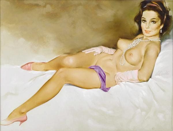 1 Рисованные голые девушки эро художников