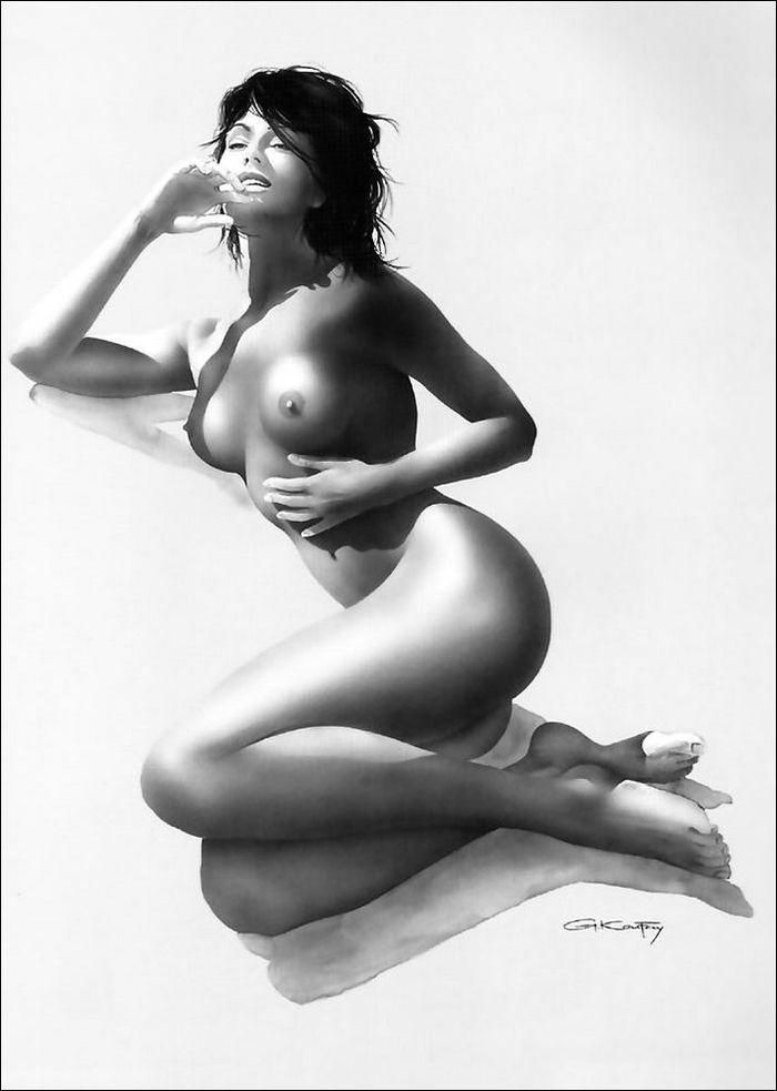 13 Рисованные голые девушки эро художников