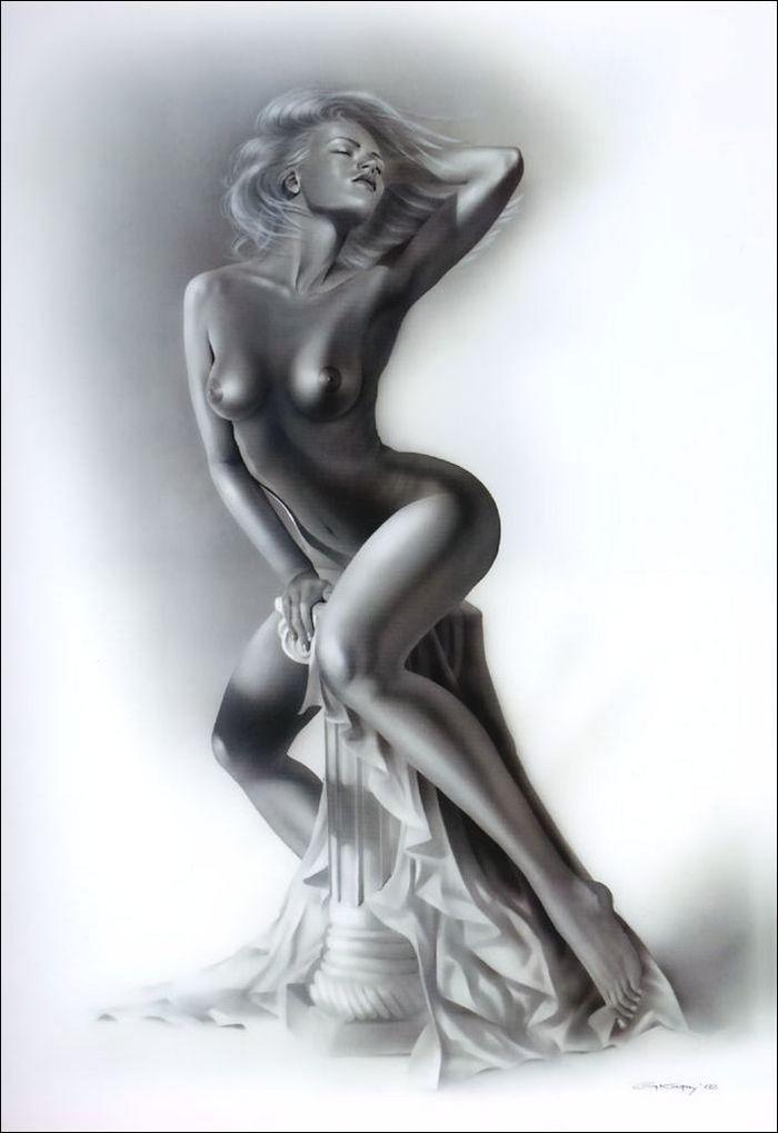 15 Рисованные голые девушки эро художников