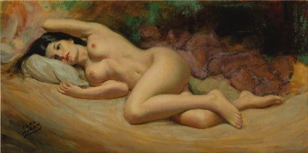 7 Рисованные голые девушки эро художников