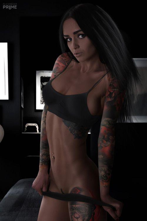 1026 Татуированные девушки безумно красивы