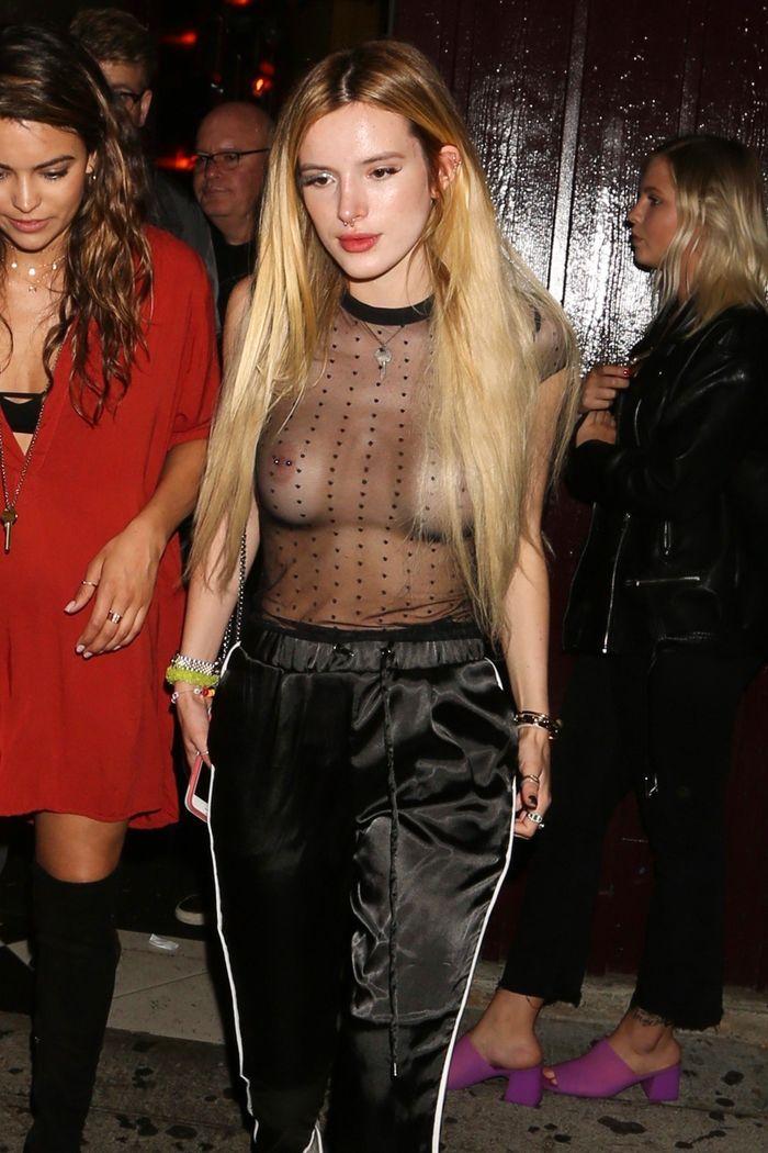 Nonnude Blonde Celebrity Bella Thorne with Pierced Nipple 6 1 Засветы звезд привлекают внимание и заводят не на шутку