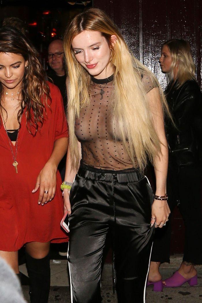 Nonnude Blonde Celebrity Bella Thorne with Pierced Nipple 9 1 Засветы звезд привлекают внимание и заводят не на шутку